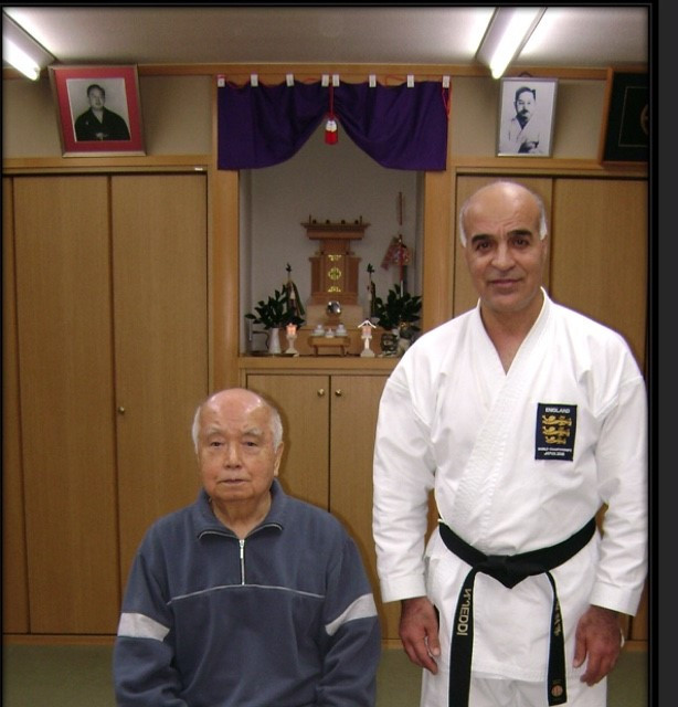 Kenei Mabuni Sensei Son of Shito Ryu founder at his Home dojo Osaka 2008