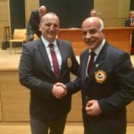 "54th European Senior Karate Championship 2019 in Guadalajara, SpainReceiving the "" Gold Pin"" The heights gratitude service with European Karate Federation after 20 years service"